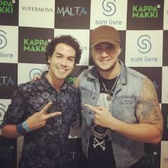 Sam Alves confere show da banda Malta e posta foto com Bruno Boncini no Instagram
