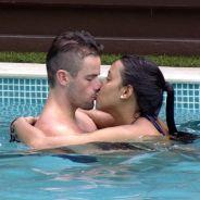 """No """"BBB15"""", Rafael propõe fazer sexo com Talita na piscina: """"Dá para fazer um amorzinho!"""""""