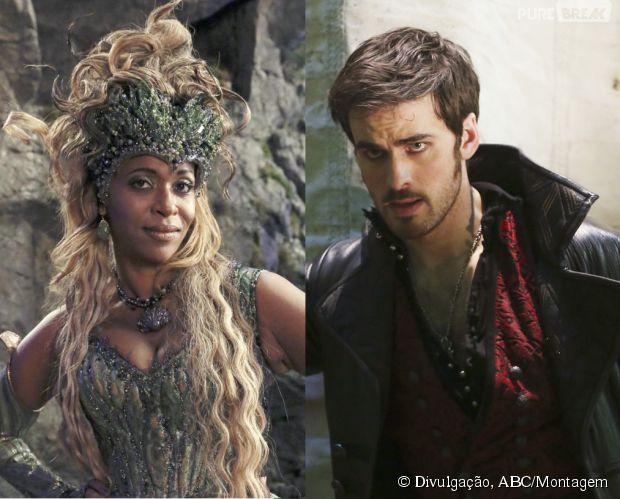 """Hook (Colin O'Donoghue) já teve problemas com Ursula (Merrin Dungey) no passado em """"Once Upon a Time"""""""