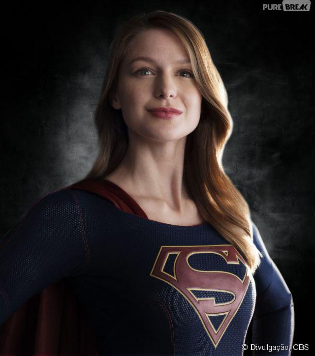 """Série """"Supergirl"""" mostra Melissa Benoist usando o uniforme da heroína da CBS"""