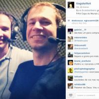 No Instagram: Tiago Leifert posta foto e confirma jogo da Copa do Mundo 2014