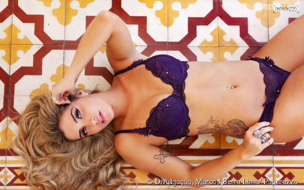 "<p>Aline do ""BBB15"" faz ensaio sensual para o site Paparazzo</p>"