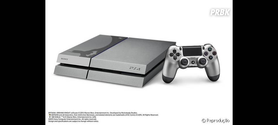 """Detalhes do console PS4 com tema de """"Batman: Arkham Knight"""" lançado pela Sony"""