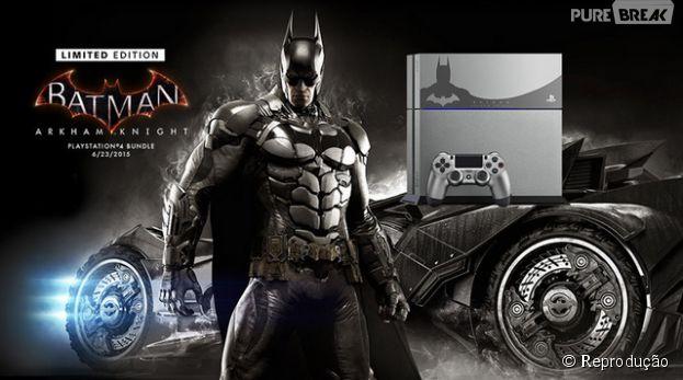 """Console PS4 ganha tema do homem morcego em """"Batman: Arkham Knight"""""""