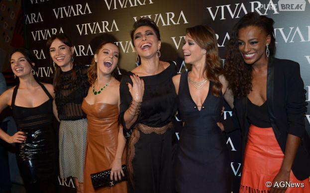 Giovanna Lancellotti, Sabrina Sato, Maria Casadevall, Isis Valverde, Mariana Ximenes e Patrícia Dejesus esbanjam charme e simpatia em evento de moda em São Paulo