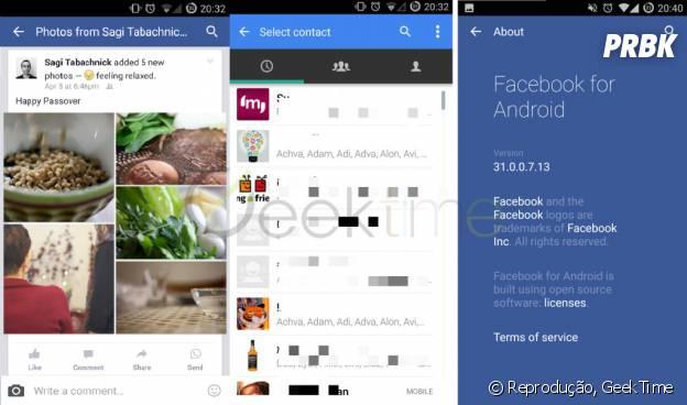 Facebook e Whatsapp integrados em próxima versão do aplicativo para Android!