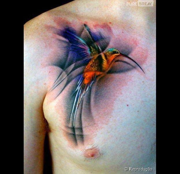 Hummingbird Tattoo For Men Veja 40 tatuagens incr...
