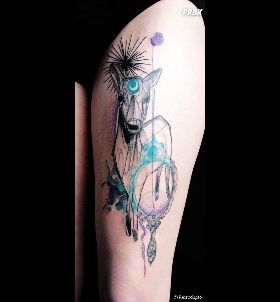 Os Desenhos Mais Diferentes Sao De Tatuagens Em Aquarela Purebreak