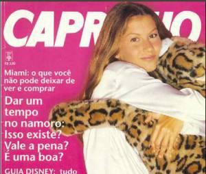 Gisele Bündchen em sua primeira capa de revista, no caso a Capricho