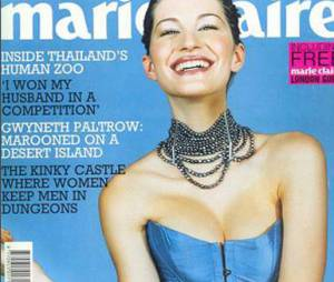 Gisele Bündchen foi fotrografada para sua primeira capa internacinal pela revista Marie Claire