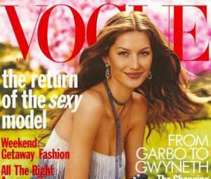 Gisele Bündchen recebe o prêmio de Vogue Music Awards como melhor modelo do ano