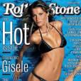 """Gisele Bündchen em uma das edições da revista Rolling Stones dizendo que a modelo era """"A garota mais linda do mundo"""""""