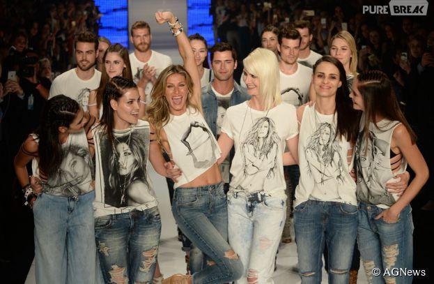 Gisele Bündchen faz sua despedida das passarelas no São Paulo Fashion Week