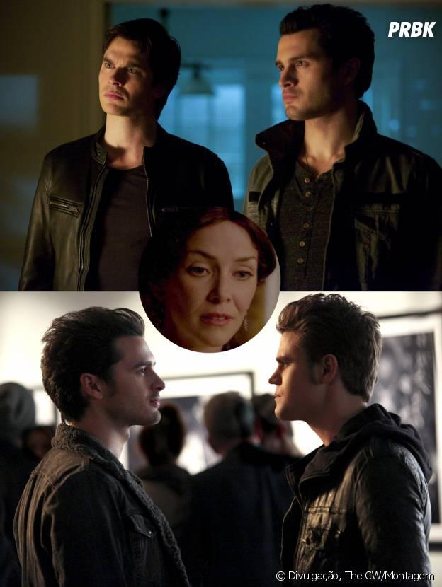 """Enzo (Michael Malarkey) tem uma ligação com a mãe de Damon (Ian Somerhalder) e Stefan (Paul Wesley) em """"The Vampire Diaries"""""""