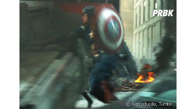 """Capitão América, de """"Os Vingadores 2"""""""