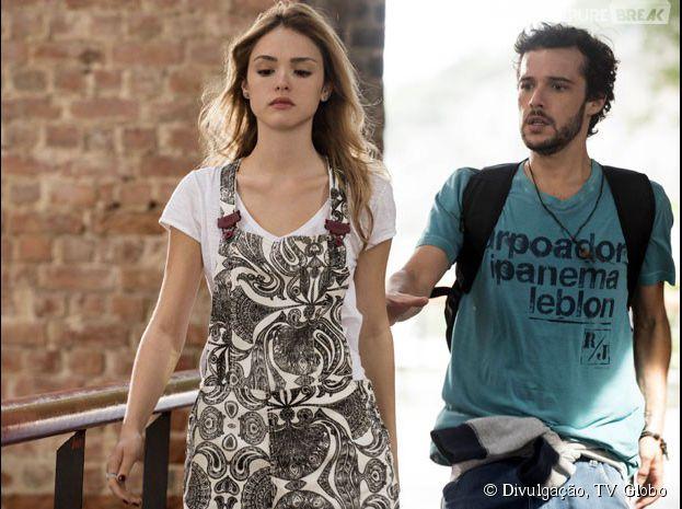 "Em ""Sete Vidas"", Pedro (Jayme Matarazzo) e Júlia (Isabelle Drummond) brigam"