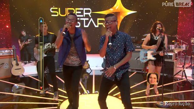 """No """"SuperStar"""", a banda de Lucas e Orelha, os novinhos da atração, ganhou 86% dos votos!"""