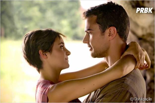"""Tris (Shailene Woodley e Quatro (Theo James) em 'Insurgente"""""""