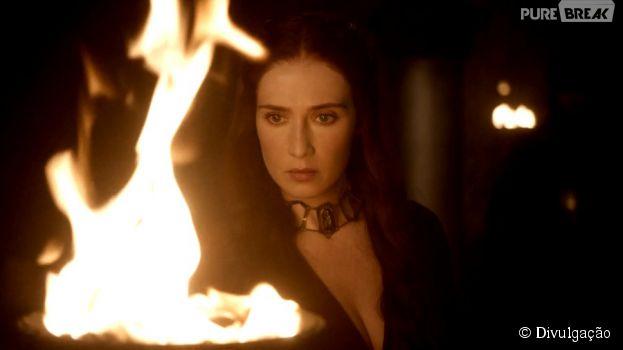 "Na 5ª temporada de ""Game of Thrones"", Melisandre (Carice Van Houten) passa dos limites pelo poder"