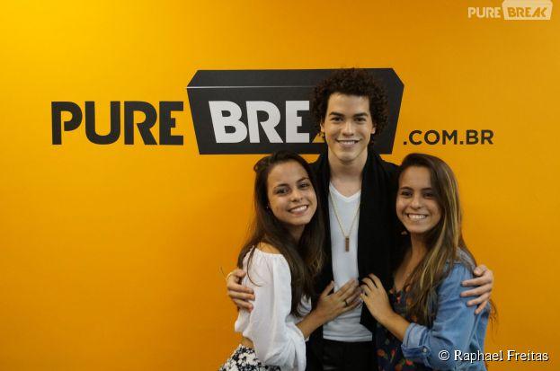Karen Mota e Luana Mota estrearam o Meet & Break com o Sam Alves. Nós amamos este encontro!
