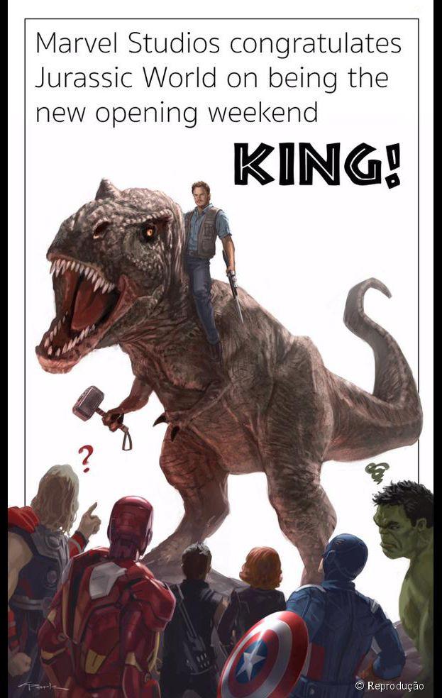 """Marvel dá os parabéns à Universal por sucesso de """"Jurassic World"""""""
