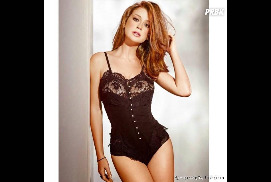 Provocante, Marina Ruy Barbosa posa de lingerie no Instagram