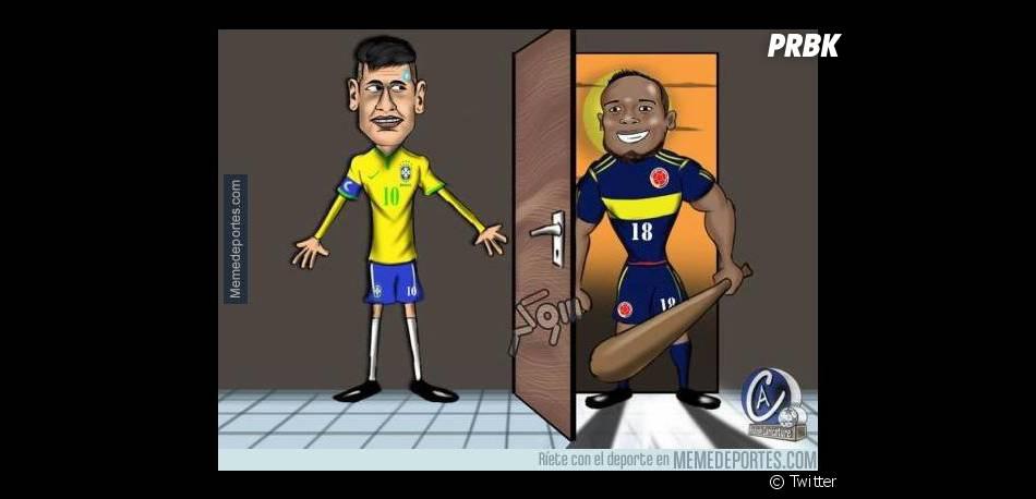 Na internet a galera tá dizendo que Neymar Jr. é saco de pancadas