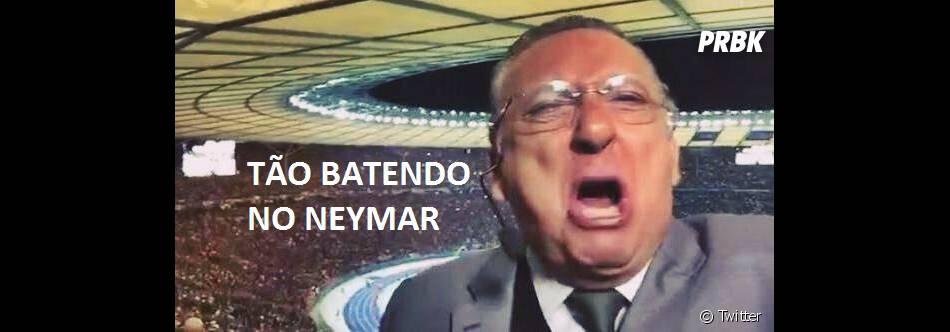 Até o Galvão Bueno ficou desesperado com a confusão arrumada por Neymar Jr.