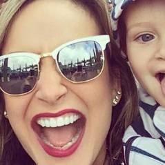 """Claudia Leitte confessa querer um terceiro bebê e fala sobre Davi: """"é um adolescente precoce"""""""
