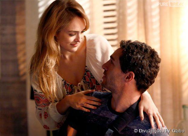 "Em ""Sete Vidas"", Júlia (Isabelle Drummond) quer provar que ama Felipe (Michel Noher)"