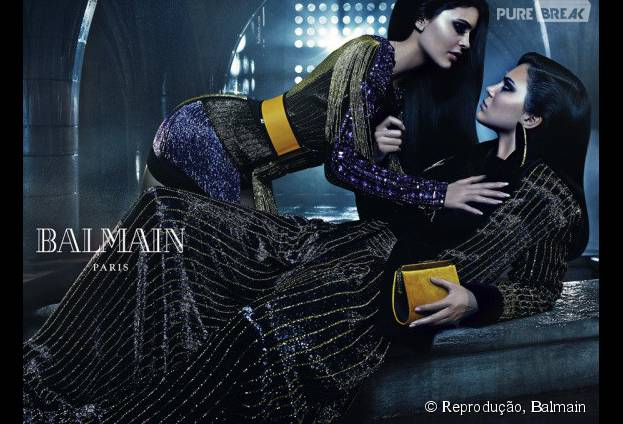 Kendall e Kylie Jenner participam de campanha de inverno-2016 da Balmain