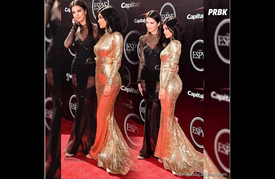 Kendall e Kylie Jenner estão participando da campanha da Balmain de inverno 2016