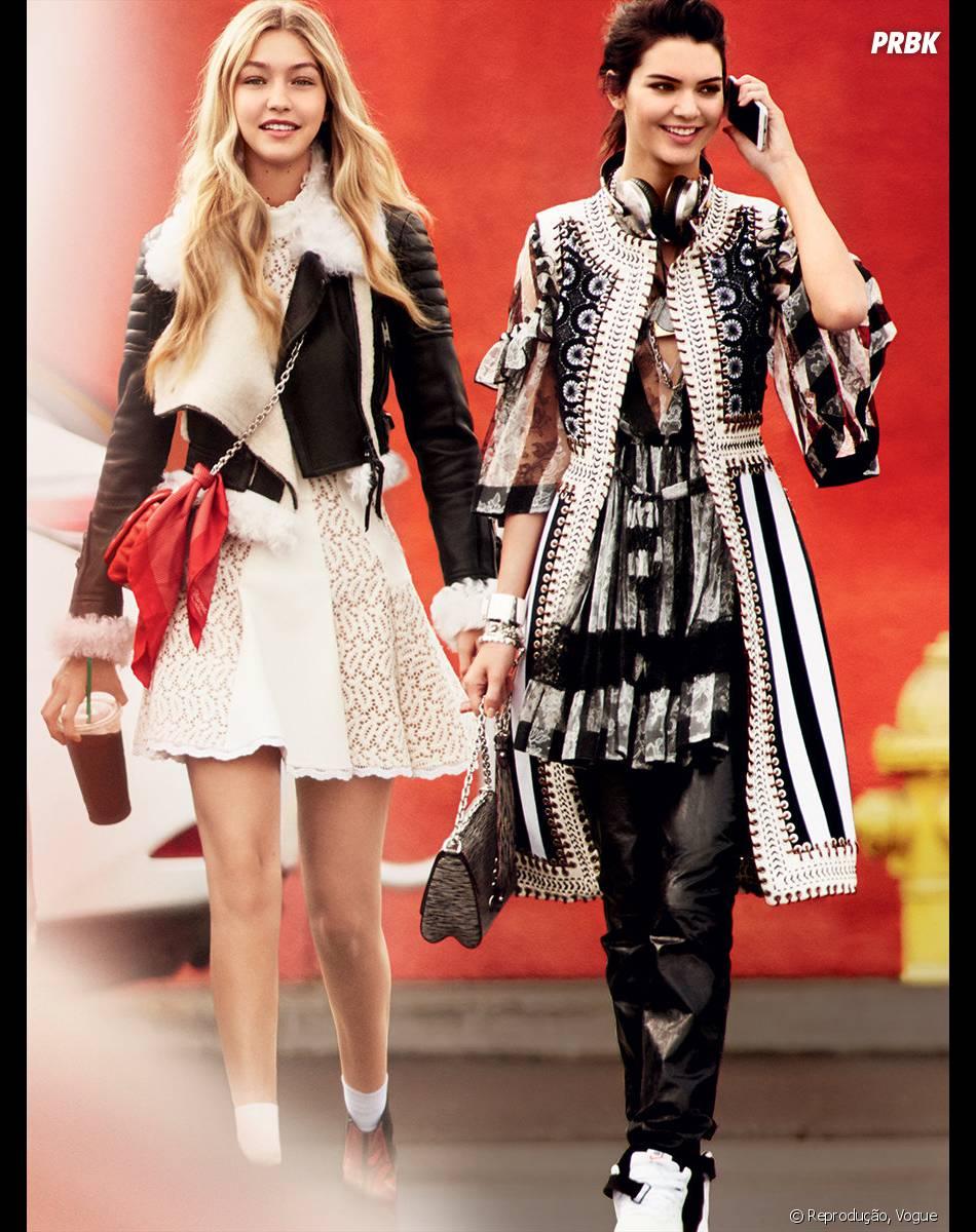 Kendall Jenner e Gigi Hadid estão juntas em nova campanha da Balmain, mas cada uma com sua irmã!