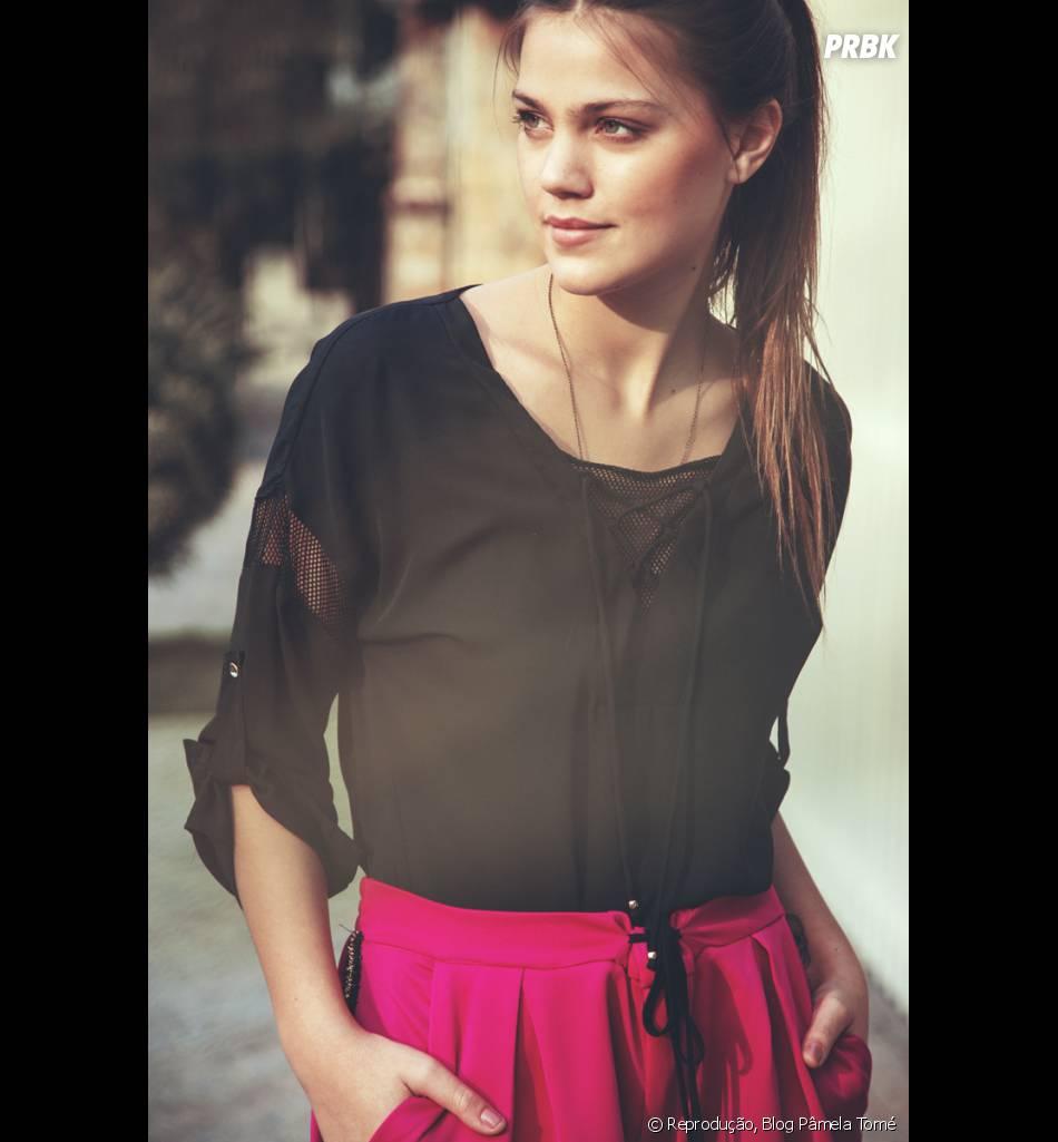 Pâmela Tomé é modelo desde os quatorze anos