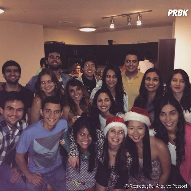 Willian Lessa Ribeiro e amigos intercambistas passam o Natal juntos no Arizona, nos Estados Unidos