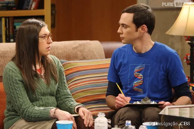 """Em """"The Big Bang Theory"""", Amy (Mayim Bialik) não quer mais ficar com Sheldon (Jim Parsons)"""