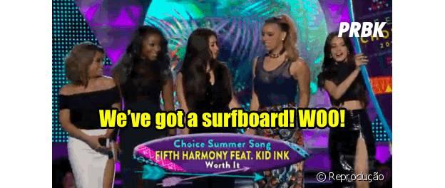 Fifth Harmony comemora prêmio no Teen Choice Awards 2015