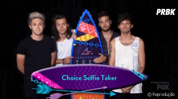 One Direction comemora prêmios no Teen Choice Awards