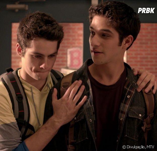 """Em """"Teen Wolf"""", Scott (Tyler Posey) e Stiles (Dylan O'Brien) são melhores amigos desde que nasceram praticamente!"""