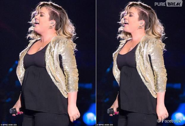 Kelly Clarkson depois sofrer photoshop em uma de suas imagens