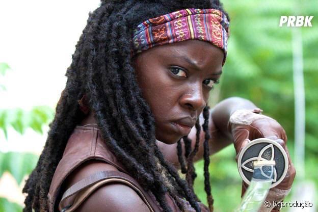 """Em """"The Walking Dead"""": Danai Gurira é Michonne e revela felicidade em nova temporada!"""
