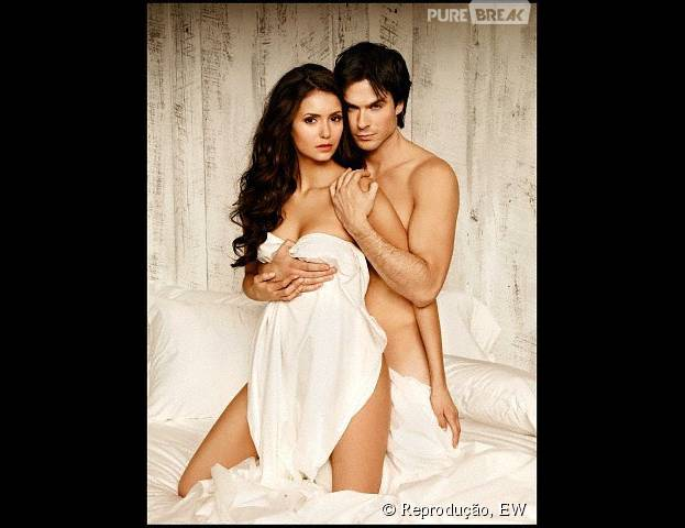 Nina Dobrev e Ian Somerhalder são alguns dos casais que já fizeram fotos sensuais juntos. Veja outros: