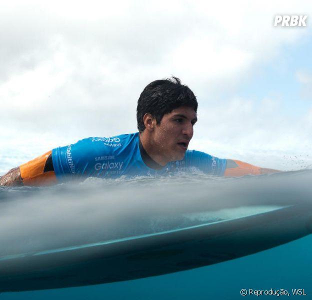 Gabriel Medina na etapa do Taití, subindo para a décima posição do ranking