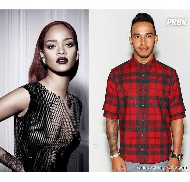 Rihanna e Lewis Hamilton. Segundo o piloto os dois são apenas grandes amigos