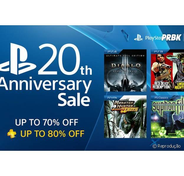 Muitas promoções no aniversário de 20 anos do PlayStation