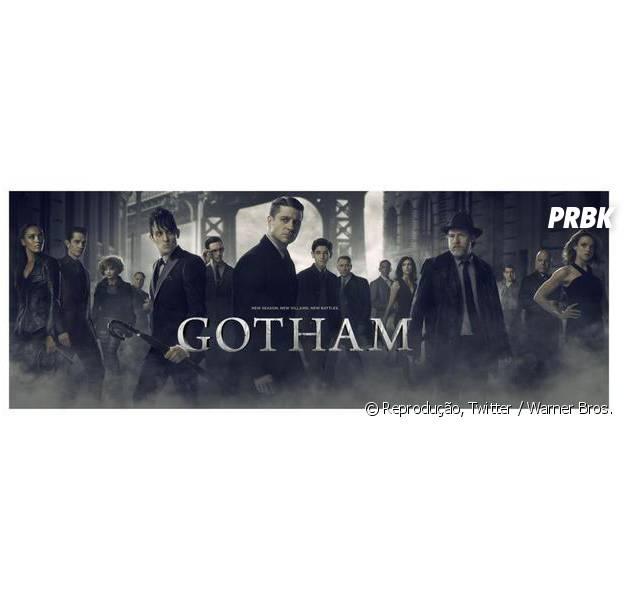"""Em """"Gotham"""": na 2ª temporada, veja Bruce (David Mazouz) e elenco reunido em pôster promocional!"""