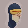 """Apesar do Ciclope ser um dos principais de """"X-Men"""", ele não ficou com aquele jeito de príncipe da Disney, parece mais do elenco de """"Os Incríveis""""!"""