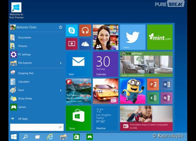 O Menu Iniciar do Windows 10, da Microsoft, é um dos que deve sofrer mudanças!