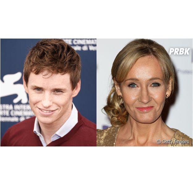 """Eddie Redmayne e J.K. Rowling, autora de Harry Potter, se conheceram antes das filmagens de """"Animais Fantásticos e Onde Habitam"""""""