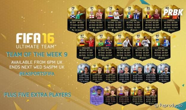 """Na semana de 11 de novembro, os jogadores que ganham cartas especiais em """"FIFA 16"""""""